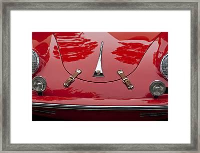 1961 Porsche 356 B Roadster Hood Emblem Framed Print by Jill Reger