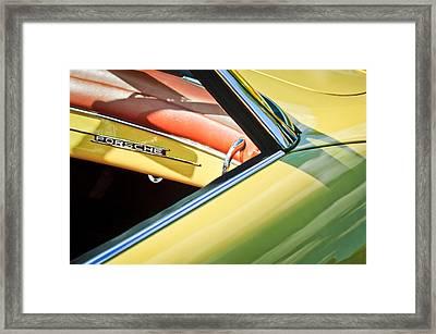 1961 Porsche 356b 1600 Super Dashboard Emblem -1712c Framed Print by Jill Reger