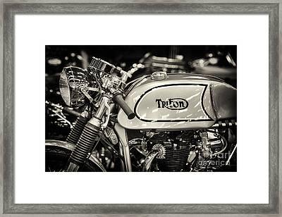 1962 650cc Triton  Framed Print