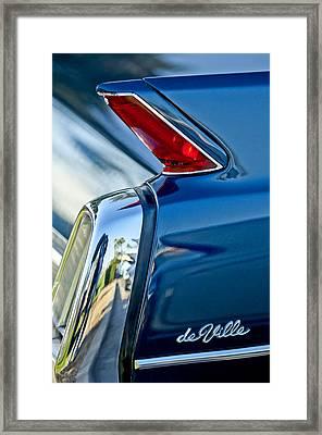 1962 Cadillac Deville Taillight Framed Print by Jill Reger