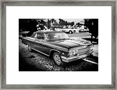 1962 Chevrolet Impala Ss Bw Framed Print by Rich Franco