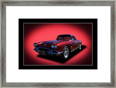 Framed Print featuring the photograph 1962 Corvette by Keith Hawley