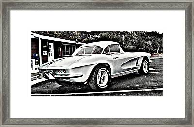 1962 Corvette Framed Print by Randall Thomas Stone