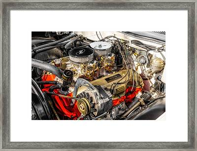 1962 Impala Ss 409 Engine Framed Print