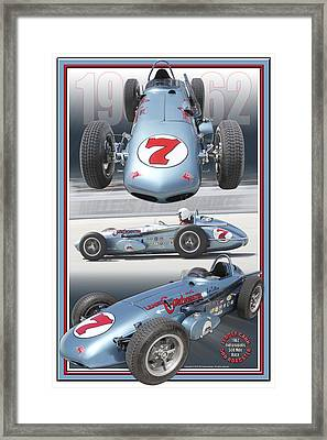 1962 Leader Card 500 Roadster Framed Print