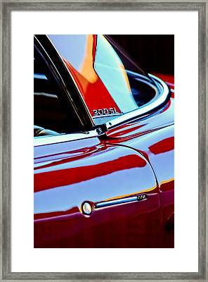 1962 Mercedes-benz 300sl Roadster Emblem -0663c Framed Print by Jill Reger