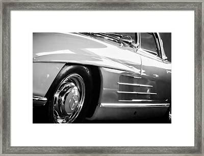 1962 Mercedes-benz 300sl Roadster Wheel -0669bw Framed Print by Jill Reger