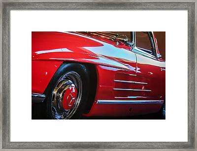 1962 Mercedes-benz 300sl Roadster Wheel -0669c Framed Print