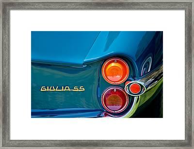 1963 Alfa Romeo Giulia Sprint Special Ss Taillight Emblem Framed Print by Jill Reger