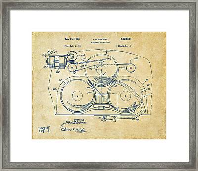 1963 Automatic Phonograph Jukebox Patent Artwork Vintage Framed Print by Nikki Marie Smith