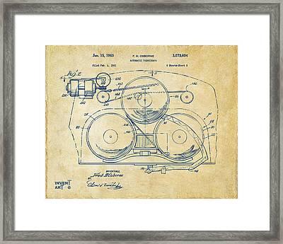 1963 Automatic Phonograph Jukebox Patent Artwork Vintage Framed Print