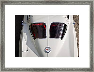 1963 Chevrolet Corvette Split Window -399c Framed Print by Jill Reger