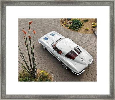 1963 Chevrolet Corvette Split Window -440c Framed Print by Jill Reger