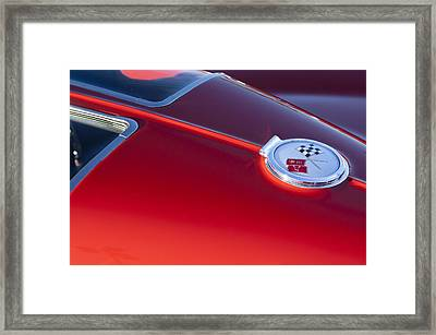 1963 Chevrolet Corvette Split Window Framed Print by Jill Reger