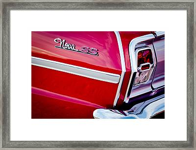 1963 Chevrolet Nova Convertible Taillight Emblem Framed Print by Jill Reger
