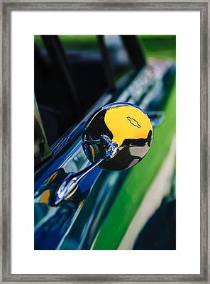 1963 Chevrolet Nova Rear View Mirror Emblem Framed Print