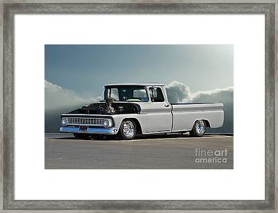 1963 Chevy 'low Rider' Pick-up Truck Framed Print by Dave Koontz