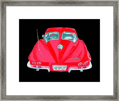 1963 Corvette Split Window Coupe Framed Print by Jack Pumphrey