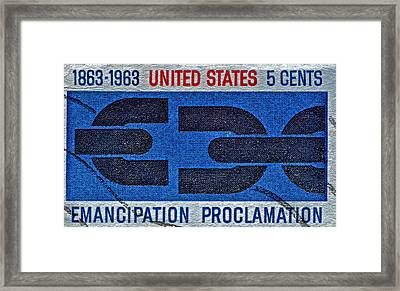1963 Emancipation Proclamation Stamp Framed Print