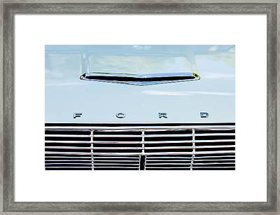 1963 Ford Falcon Futura Convertible  Hood Emblem Framed Print by Jill Reger