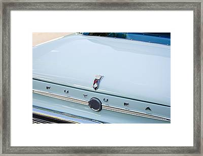 1963 Ford Falcon Futura Convertible  Rear Emblem Framed Print