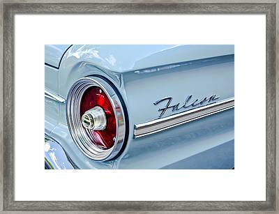 1963 Ford Falcon Futura Convertible Taillight Emblem Framed Print by Jill Reger