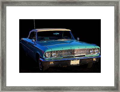 1963 Ford Galaxy Framed Print by Davandra Cribbie