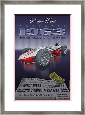 1963 Kaiser Aluminum Roadster Framed Print