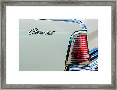 1963 Lincoln Continental Taillight Emblem -0905bw Framed Print