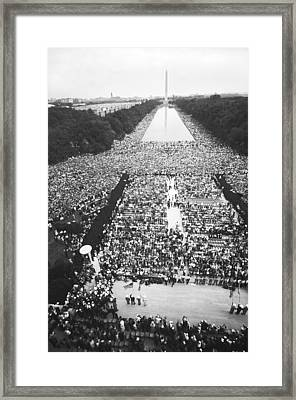 1963 March On Washington Framed Print by Warren Leffler