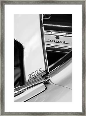 1963 Mercedes-benz 300 Sl Roadster Emblems Framed Print