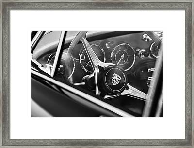 1963 Porsche 356 B 1600 Coupe Steering Wheel Emblem Framed Print by Jill Reger