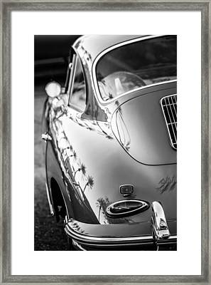 1963 Porsche 356b S Coupe Taillight -1241bw Framed Print