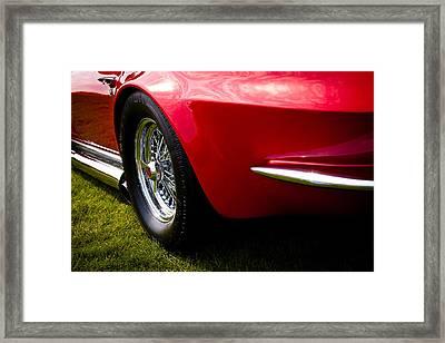 1963 Red Chevy Corvette Stingray Framed Print