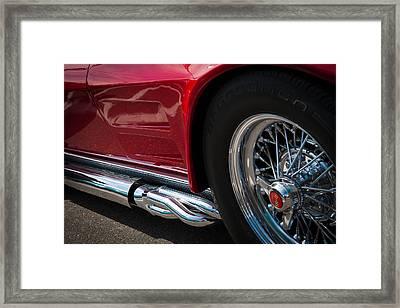 1963 Red Corvette Framed Print