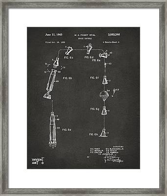 1963 Space Capsule Patent Gray Framed Print