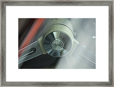 1963 Studebaker Avanti Steering Wheel Framed Print by Jill Reger
