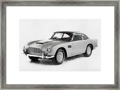 1964 Aston Martin Db5 Watercolor Framed Print