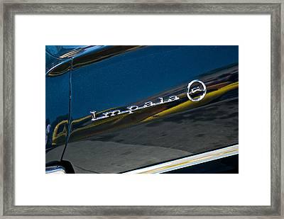 1964 Chevrolet Impala Script Framed Print by Dave Koontz