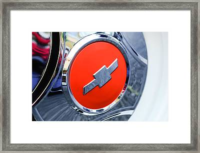 1964 Chevrolet Pickup Truck K 10 Wheel Emblem Framed Print