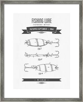 1964 Fishing Lure Patent Drawing 01 Framed Print by Aged Pixel