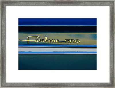 1964 Ford Fairlane 500 Emblem Framed Print by Jill Reger