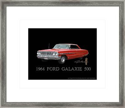 1964 Ford Galaxie 500 Framed Print by Jack Pumphrey