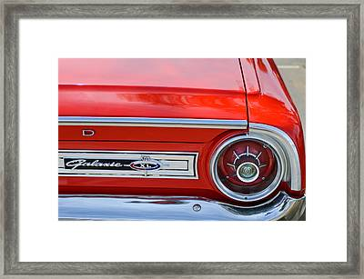 1964 Ford Galaxie 500xl Taillight Emblem Framed Print by Jill Reger