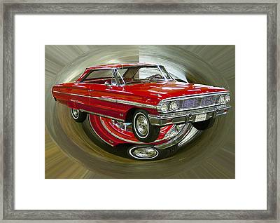 Framed Print featuring the photograph 1964 Ford Galaxie by B Wayne Mullins