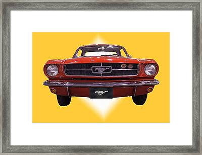 1964 Ford Mustang Framed Print by Michael Porchik