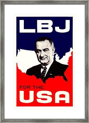 1964 Lbj For The Usa Framed Print