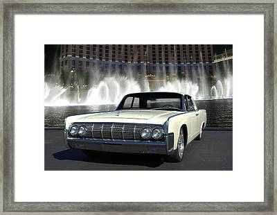 1964 Lincoln Continental Framed Print by Tim McCullough