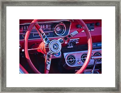 1964 Mustang Interior Framed Print