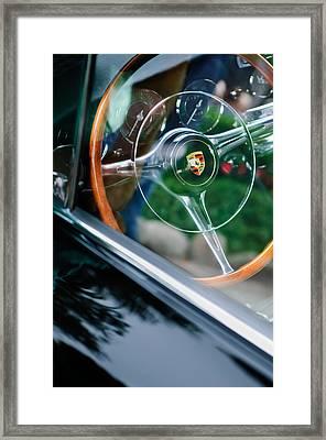 1964 Porsche 356 C Cabriolet Steering Wheel Emblem Framed Print
